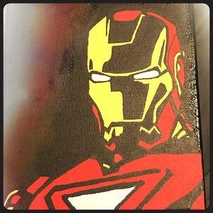 Iron man acrylic painting.